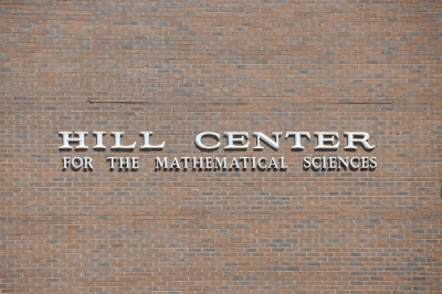 Hill Center forMathematical Sciences exterior wall sign
